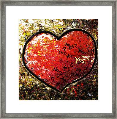 Chaos In Heart Framed Print