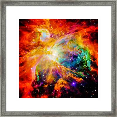 Chaos In Orion Framed Print