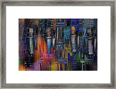 Chaos In Solitude Vii Framed Print