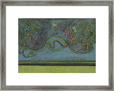 Chaos Is Contained And It's Blue  Framed Print by Kim Alderman
