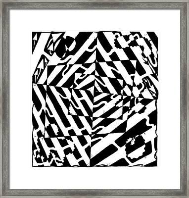 Chaos Maze Optical Illusion Framed Print by Yonatan Frimer Maze Artist