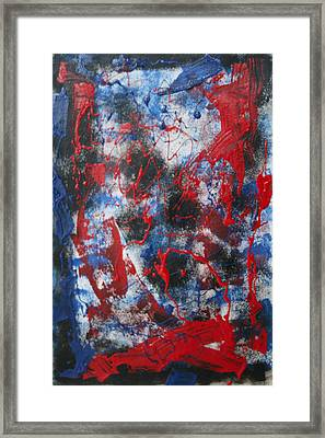 Framed Print featuring the painting Chaos by Mordecai Colodner