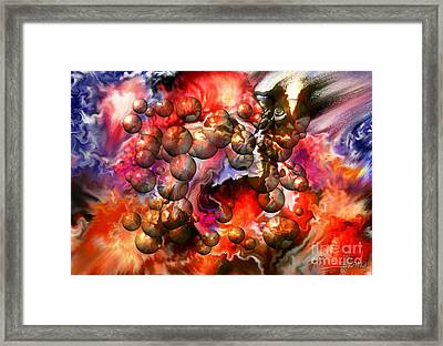 Chaos Spheres By Spano Framed Print