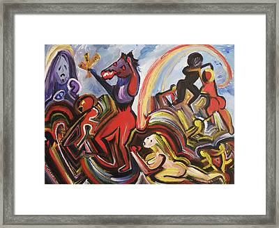 Chaos Framed Print by Suzanne  Marie Leclair