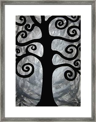 Chaos Tree Framed Print by Angelina Vick