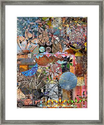 Chaos Within Geometry Framed Print