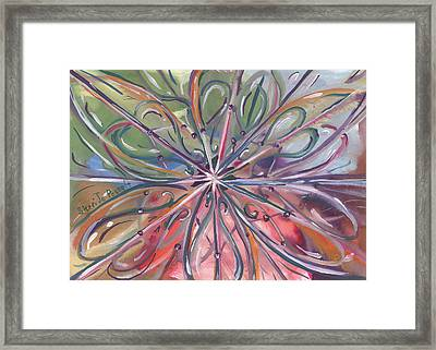 Chaotic Beauty Framed Print