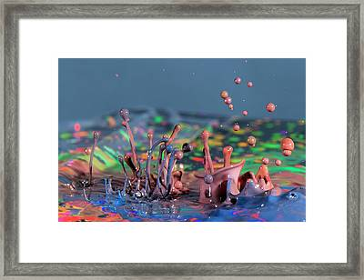 Chaotic Paint Framed Print