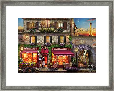 Chapeau Rouge Framed Print by MGL Meiklejohn Graphics Licensing