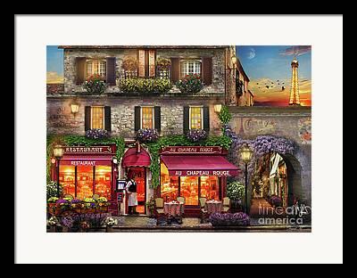 Waiter Digital Art Framed Prints