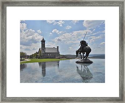 Chapel And Infinity Pool Framed Print by Julie Grace