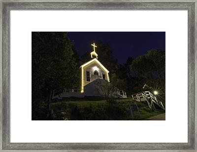 Chapel At Roche Harbor Framed Print by Thomas Ashcraft
