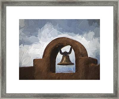 Chapel Bell Chimayo Painterly Effect Framed Print by Carol Leigh