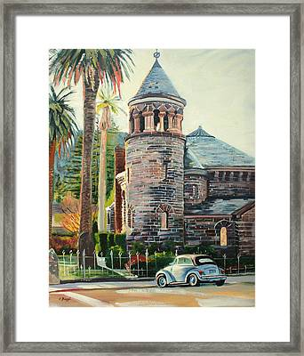 Chapel Bug Framed Print by Colleen Proppe