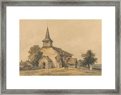 Chapel Church, Surrey Framed Print by Thomas Girtin