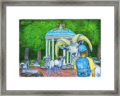 Chapel Hill Nc The Freshman Framed Print by Laura Brightwood