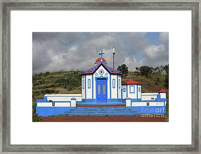 Chapel In Agua De Pau - Azores Framed Print by Gaspar Avila