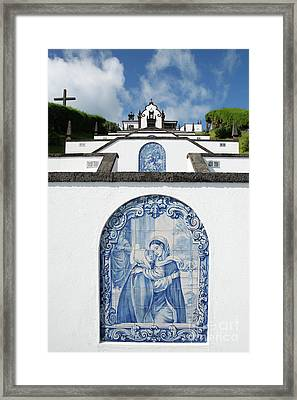 Chapel In The Azores Framed Print by Gaspar Avila