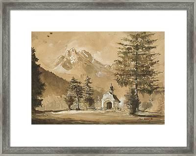 Chapel In The Forest Framed Print by Juan Bosco
