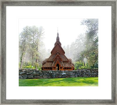 Chapel In The Hills Framed Print by Art Spectrum