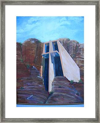 Chapel In The Mountains Framed Print by Jack Hampton