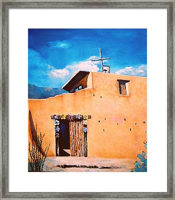 Chapel In The Sun Framed Print by M Diane Bonaparte