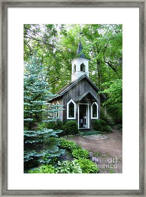 Chapel In The Woods Framed Print