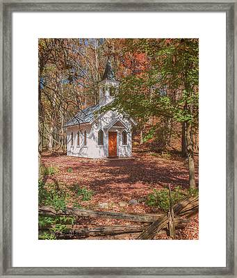 Chapel In Woods At Red Mill 3 Framed Print