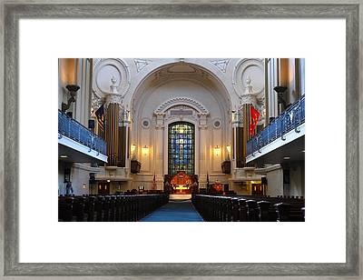 Chapel Interior - Us Naval Academy Framed Print by Lou Ford