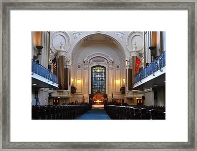 Chapel Interior - Us Naval Academy Framed Print