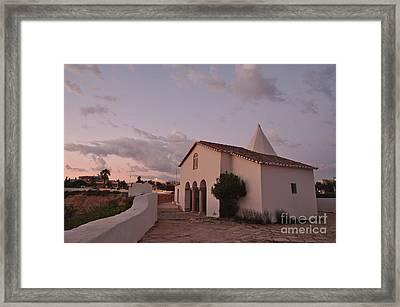 Chapel Nossa Senhora Da Rocha At Dusk In Algarve Framed Print