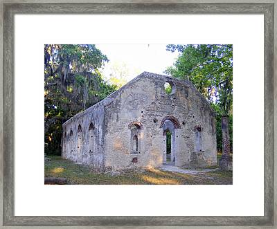 Chapel Of Ease And The Lands End Ghost Framed Print by Elena Tudor