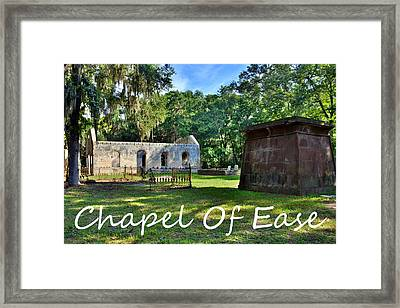 Chapel Of Ease Framed Print by Lisa Wooten