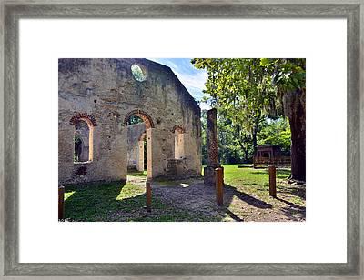 Chapel Of Ease St. Helena Island Beaufort Sc 5 Framed Print by Lisa Wooten