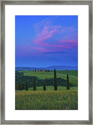 Chapel Of Our Lady Of Vitaleta Framed Print by Christian Heeb