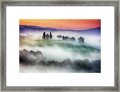 Chapel Of Our Lady Of Vitaleta Framed Print by Evgeni Dinev