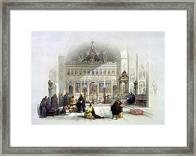 Chapel Of The Convent Of St Saba Framed Print by Munir Alawi