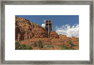 Chapel Of The Holy Cross Framed Print by Loree Johnson