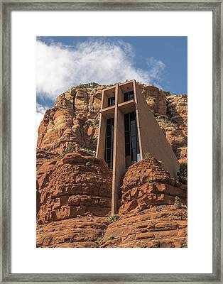 Chapel Of The Holy Cross Vertical Framed Print by Loree Johnson