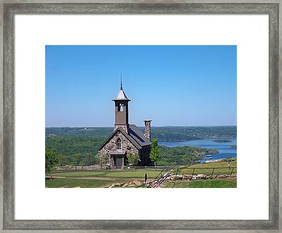 Chapel Of The Ozarks Framed Print by Julie Grace