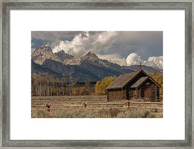 Framed Print featuring the photograph Chapel Of The Transfiguration by Chuck Jason