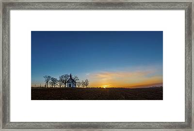 Chapel Of The Virgin Mary Of The Help In Brno Lisen Southern Moravia Framed Print