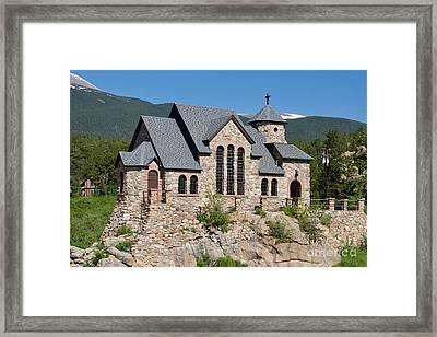 Chapel On A Rock Framed Print
