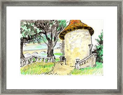 Chapel On Estate River Framed Print by Tilly Strauss