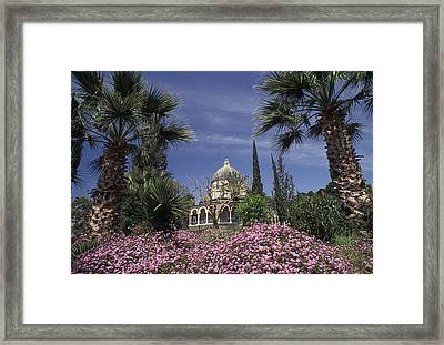 Chapel On Mount Of Beatitures Framed Print by Richard Nowitz