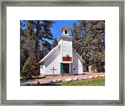 Chapel On The Mountain Framed Print