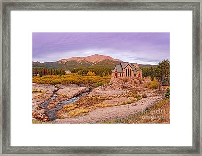 Chapel On The Rock And Long's Peak In The Fall - Peak To Peak Highway Estes Park Colorado Framed Print