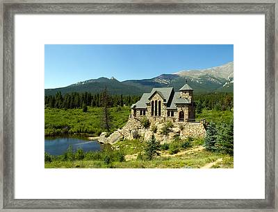 Chapel On The Rock Framed Print by Phil Stone