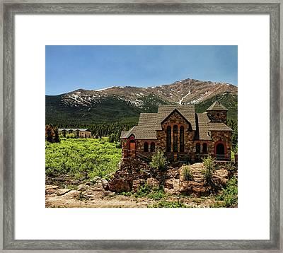 Chapel On The Rocks 2 - Colorado Framed Print