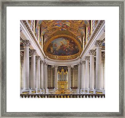Chapel - Palace Of Versailles - France Framed Print